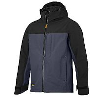 Snickers 1303 AllroundWork Waterproof Shell Jacket Steel Grey/Black