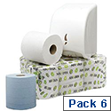 Maxima Centre Feed Blue Dispenser Toilet Roll 2 Ply 150m Pack 6