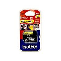 Brother P-touch M-K631BZ 12mm x 8m Black On Yellow Plastic Labelling Tape