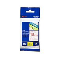 Brother P-Touch TZe-242 18mm x 8m Red On White Labelling Tape
