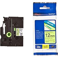 Brother P-touch TZe-C31 12mm x 5m Black On Fluorescent Yellow Laminated Labelling Tape