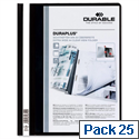 Duraplus Quotation Filing Folder PVC A4 Black Pack 25