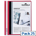 Durable Duraplus Quotation Folder PVC A4 Red Pack 25