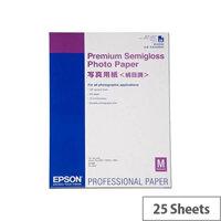 Epson A2 Semi-Gloss Premium Photo Paper (Pack of 25)