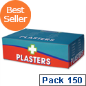 Wallace Cameron First-Aid Kit Blue Detectable Plasters 3 Assorted Sizes Oblong Ref 1214037 Pack 150 132227