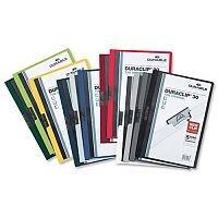 Durable Duraclip 30 Presentation Folder A4 Clear Front 30 Sheets Dark Blue Pack 25