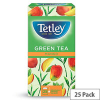 Tetley Green Tea with Mango (Pack of 25)