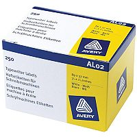 Avery AL02 Typewriter Address Labels  89 x 37mm  on a Roll  Pack of 250 Labels