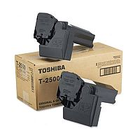 Toshiba T2500E Black Toner Cartridge for Toshiba e-Studio 20 Toshiba e-Studio 25 Toshiba e-Studio 200 Toshiba e-Studio 250 Yield 15,000 Pages (Pack of 2) 60066062053