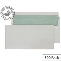 Purely Environmental Natural White DL Wallet Self Seal Envelopes 90gsm Pack of 500