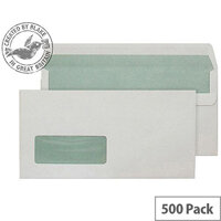 Purely Environmental Wallet SS Window Natural White 90gsm DL (Pack of 500)