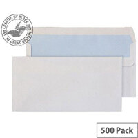 Purely Everyday Wallet Self Seal White 100gsm DL 110x220mm (Pack of 500)
