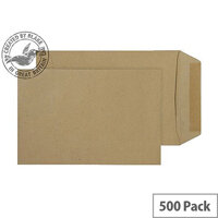Purely Everyday Manilla 80gsm Gummed Pocket C5 229x162mm (Pack of 500)
