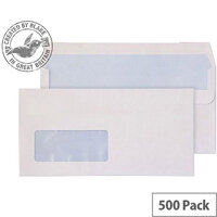 Purely Everyday Wallet Self Seal Low Window White 100gsm DL 110x220 (Pack of 500)