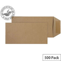 Purely Everyday Pocket Self Seal Manilla 80gsm DL 220x110mm (Pack of 500)