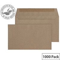 Purely Everyday Manilla 70gsm Envelopes Gummed Wallet 89x152mm Pack of 1000