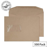 Purely Everyday Mailer Gummed Window Manilla 80gsm C5 162x229mm (Pack of 500)