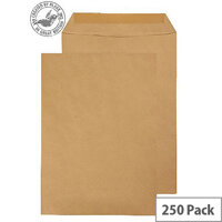 Purely Everyday 115gsm Manilla Gummed Pocket C4 324x229mm (Pack 250)