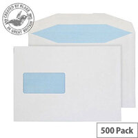 Purely Everyday Mailer Gummed Window White 90gsm C5 162x229mm (Pack 500)
