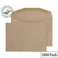 Purely Everyday Manilla Gummed Mailing Wallet C6 (Pack of 1000)