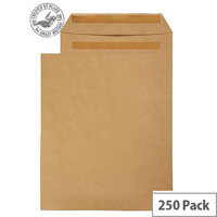 Purely Everyday Manilla Self Seal Pocket C4 324x229mm (Pack of 250)