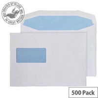 Purely Everyday Mailer Gummed High Window White 90gsm C5 162x229 (Pack of 500)