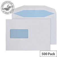 Purely Everyday Mailer Gummed Window White 90gsm C5- 155x220mm (Pack of 500)