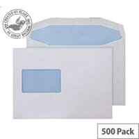 Purely Everyday Mailer Gummed CBC Wndw White 90gsm C5+ 162x238 (Pack of 500)