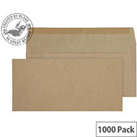 Purely Everyday Manilla 80gsm Envelopes Gummed Wallet 102x216mm Pack of 1000