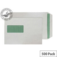 Purely Environmental Pocket SS Wndw Natural White 90gsm C5 (Pack of 500)
