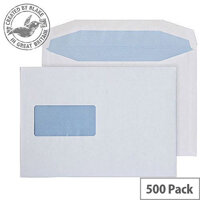 Purely Everyday Mailer Gummed Window White 100gsm C5 162x229mm (Pack of 500)