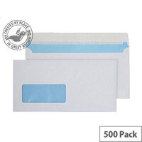 Purely Everyday White DL Wallet Low Window Envelopes P&S 110gsm Pack of 500