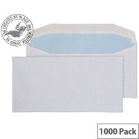 Purely Everyday White DL Envelopes Mailer Wallet Gummed 80gsm Pack of 1000
