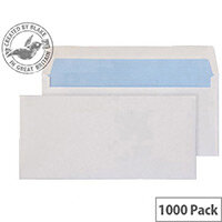 Purely Everyday Wallet Envelopes Gummed White 80gsm 105x216mm Pack of 1000