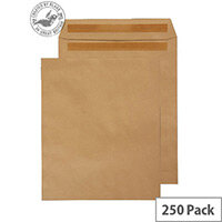 Purely Everyday Manilla 90gsm Envelopes Self Seal Pocket 305x250mm Pack of 250