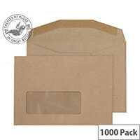 Purely Everyday Manilla Mailer Gummed Window C6 (Pack of 1000)