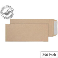 Purely Everyday 120gsm Manilla P&S Pocket Half C4 305x127mm (Pack of 250)
