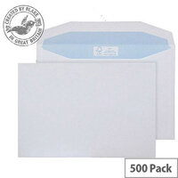Purely Environmental Mailer Gummed White 90gsm C5+ 162x238mm Ref FSC (Pack of 500)