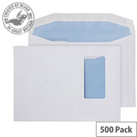 Purely Everyday Mailer Gummed Portrait Wndw White 90gsm C5 162x229 (Pack of 500)