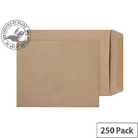 Purely Everyday Manilla 90gsm Envelopes Gummed Pocket 305x250mm Pack of 250
