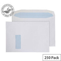 Purely Everyday Mailer Gummed Window White 120gsm C4 229x324mm (Pack of 250)