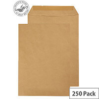 Purely Everyday Manilla Envelopes 90gsm Gummed Pocket 352x229mm Pack of 250