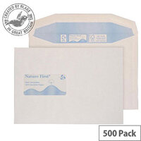 Purely Environmental Mailer Gummed Window White 90gsm C5 162x229 (Pack of 500)