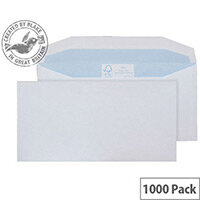 Purely Environmental Mailer Wallet Envelopes Gummed White 90gsm 102x216mm Pack of 1000