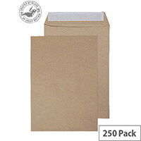 Purely Everyday Pocket Envelopes Peel and Seal Manilla 120gsm 270x216mm Pack of 250