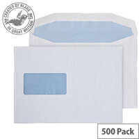 Purely Everyday Mailer Gummed Window White 100gsm C5+ 162x238mm (Pack of 500)