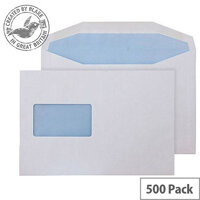 Purely Everyday Mailer Gummed Window White 115gsm C5 162x229mm (Pack of 500)