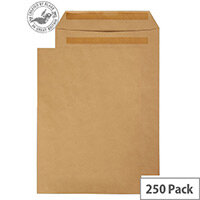 Purely Everyday Manilla 90gsm Envelopes Self Seal Pocket B4 352x250mm Pack of 250