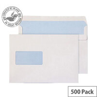 Purely Everyday Wallet Self Seal Window White 90gsm C5+ 162x238mm (Pack of 500)