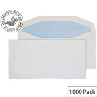 Purely Everyday White DL+ Envelopes Mailer Wallet Gummed 90gsm Pack of 1000